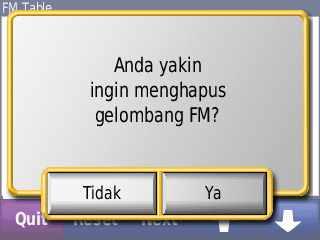 Bisa terima gelombang FM jika ada alatnya