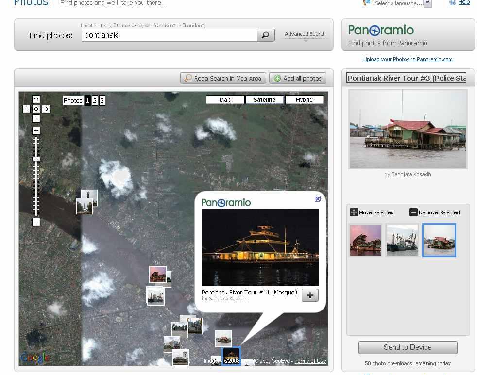 Sync dengan web ambil foto2 asik