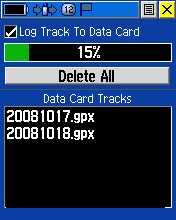 Tracklog simpan di SD micro