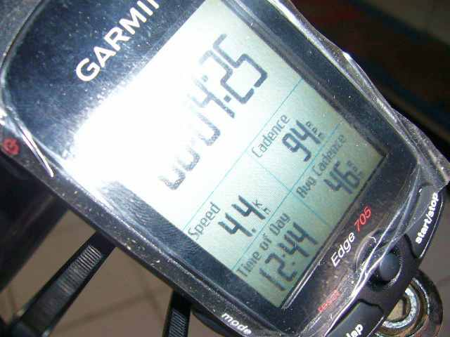 Ngetes cadence, terbaca baik di GPS Edge 705, mantaf!!