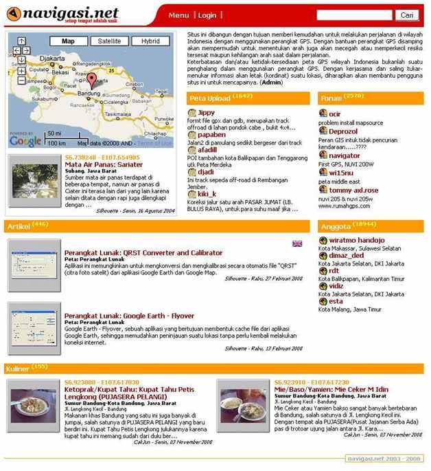 Website lokal yang pure untuk penggemar GPS