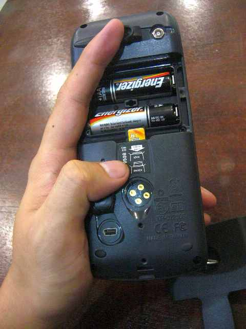 Konektor Komplits, ada External Antenna, Serial, USB, Memory dan Batere AA 2 biji