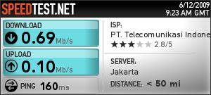 Tes kecepetan speedtest.net server jakarta