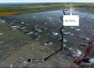 Dan ini diview di Google Earth