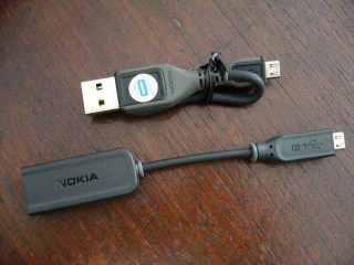 Kabel USB pendek dan Konverter charger nokia ke micro USB