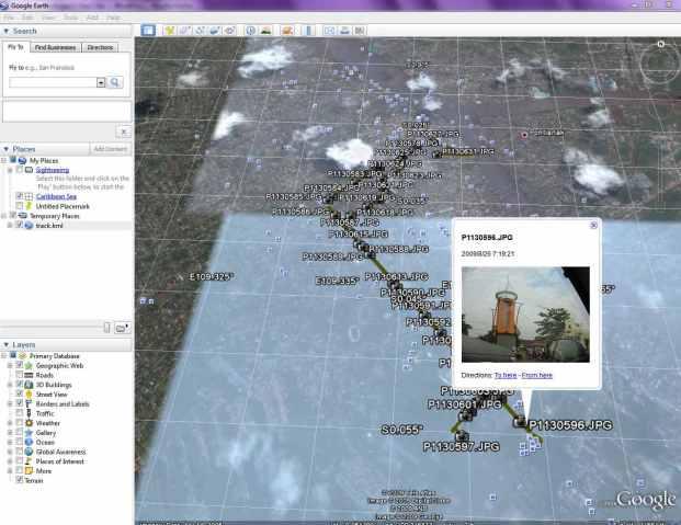 Tampilkan hasil di Google Earth