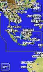 Peta Dunia dengan kontur