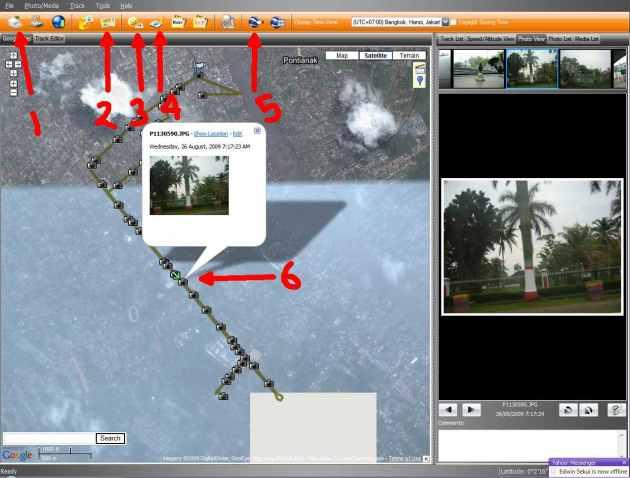 Cara gabung data gps dan foto (klik untuk perbesar)