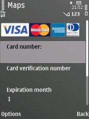 Langsung masukkan kartu kredit utk Nokia Maps