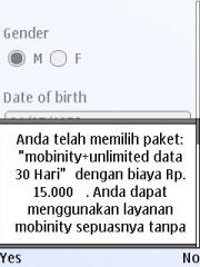 Nanti dikonfirmasi via SMS