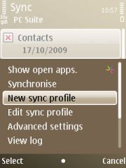 "Tekan option pilih ""New Sync Profile"""