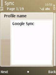 """Kasih nama """"Google Sync"""""""