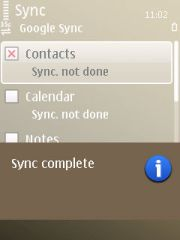 Sync complete