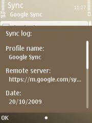 Sync Log