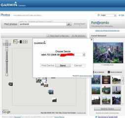 Garmin Connect, Download Foto ke 715i untuk Photo Navigation