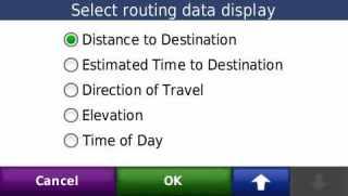 Informasi yang ingin ditampilkan saat navigasi bisa diubah2