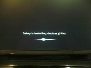 Asik juga instal 7 jendela tanpa tekan apa-apa :)