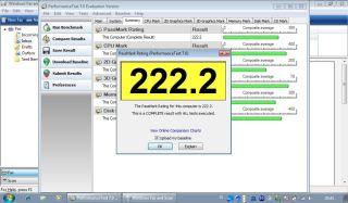 Tes benchmark dengan Perfomance Test 7.0