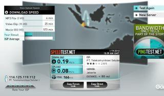 Speedtest (Nokia E52 dan Joikuspot)
