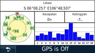 Halaman status satelit
