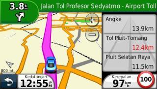 Informasi selama navigate