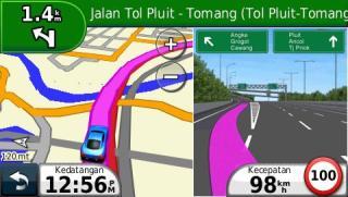 Tau jelas kapan harus exit atau stay on lane