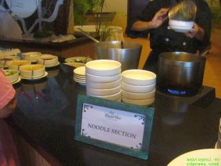 Noodle section