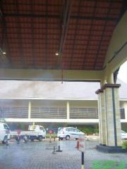 Firecracker outside hotel for CNY
