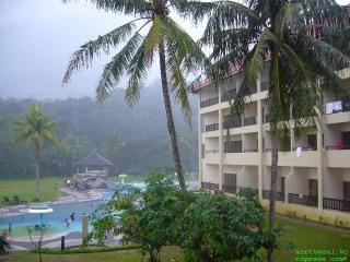 Swimming while raining