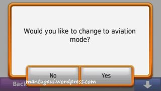 change to aviation mode