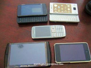 N900, SE X2, E52, Archos 5, Ipod touch