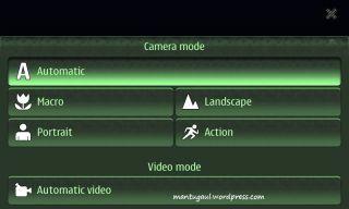 Camera scene