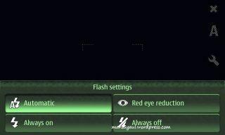 Flash setting