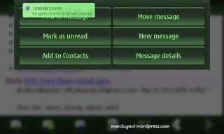 Email menu