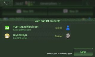 VOIP & IM account setting