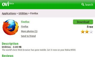 Mozilla Firefox is available for N900