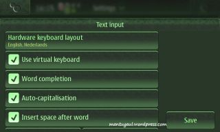 Setting the keyboard