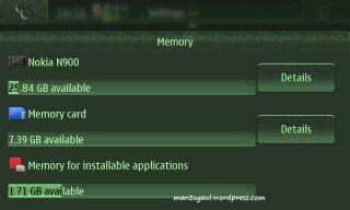 Memory details