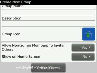 You can create group in BBM