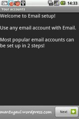 Setting email account