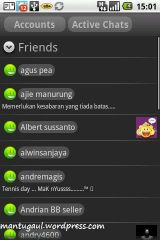 Yahoo messenger contacts