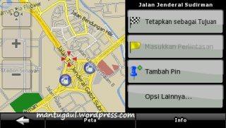 Melihat peta alamat yang berhasil dicari