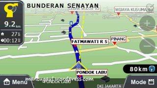 Perhatikan garis kuning penuntun arah offroad
