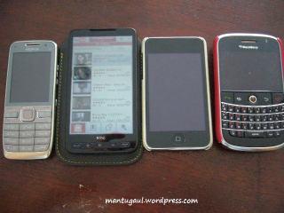 Nokia E52, HD2, ipod, Bold