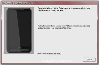 ROM update success
