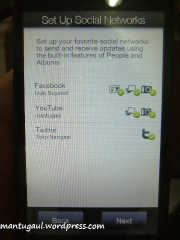 Setup social networks