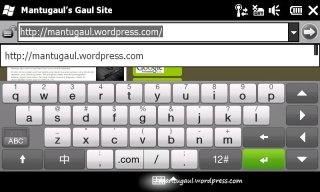 inputting URL