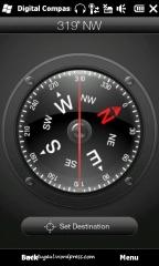 Compass dengan setting arah tujuan lokasi