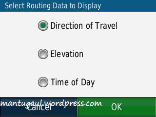 Pilih info yang ingin ditampilkan saat navigasi
