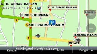 Peta jalan Dahlan